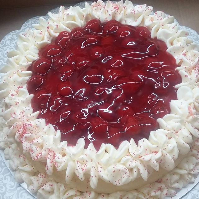 CHERRY CHEESECAKE !#cheesecake#delicious