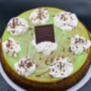 Grasshopper cheesecake(mint and chocolat