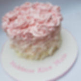 tlcb, that little cake boutique, buttercream rose swirl, ombre, pink, christening, baby, girl, simple, smash cake, birthday