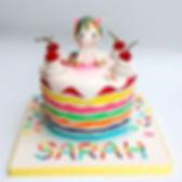 tlcb, that little cak boutique, unicorn, cherry, rainbow cake, sprinkles, bright colours, pink, blue, red, green, white, birthday, girl, celebration