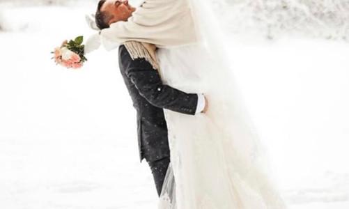 Зимняя свадьба словно из сказки