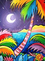 Painting with a Twist's Tropical Evening