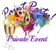 Private Paint Party Icon for Calendar Fi