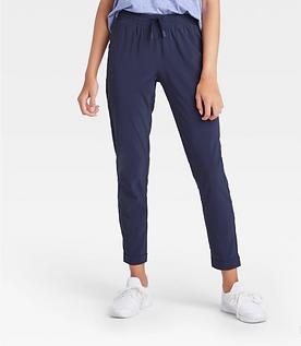 Girls' stretch Woven Pants (Navy)