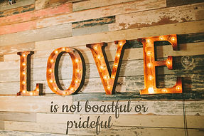 Love Is Not Boastful or Prideful