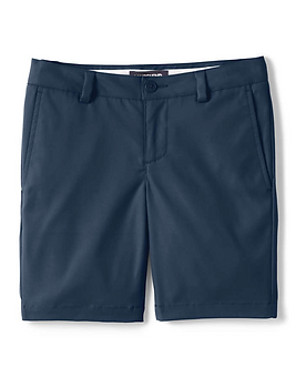 Lands' End Girls Active Chino Shorts - NAVY
