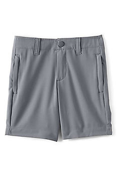 Lands' End Boys Performance Chino Shorts - NAVY/GRAY