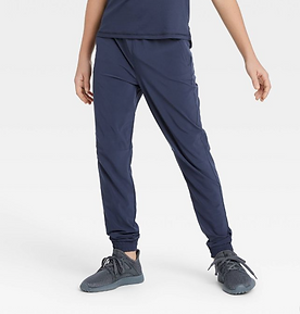 Boys' Stretch Woven Jogger Pants (Navy)