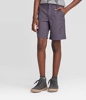 Boys' Quick Dry Chino Shorts (Charcoal)