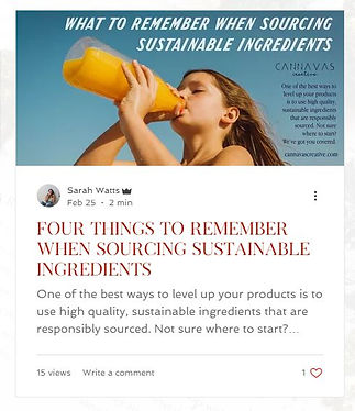 How to source sustainable ingredients.JP