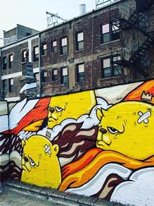 JC Rivera Brown Line Mural