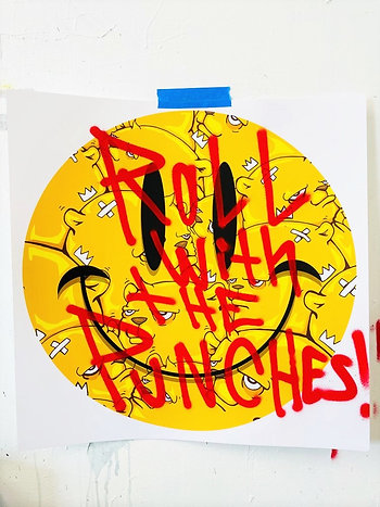 All Smiles - Artist Proof - Roll with the Punches - JC Rivera