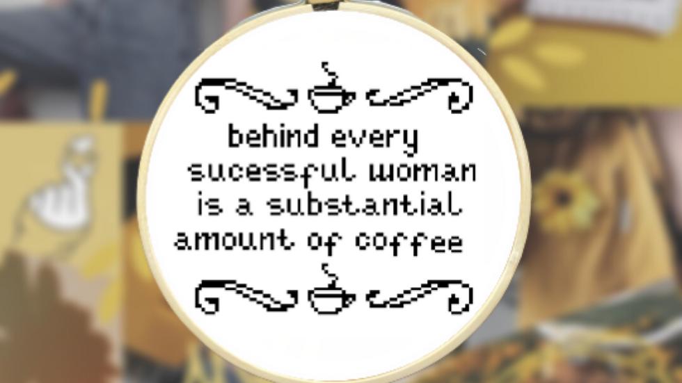 Women and Coffee | Cross Stitch Pattern