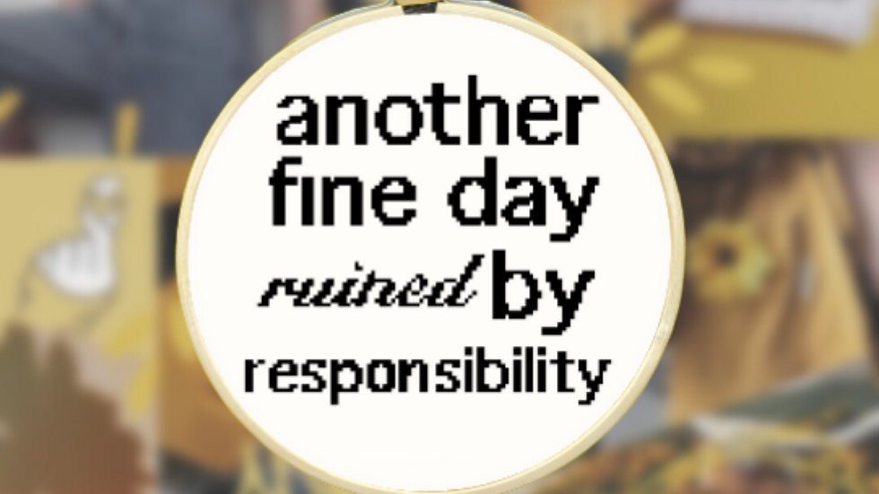 Another Day Ruined Quote | Cross Stitch Pattern