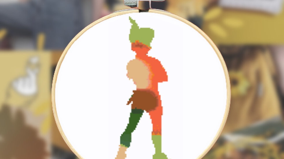Orange and Green Watercolour Prince | Cross Stitch Pattern