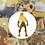 Thumbnail: Brown, Green Watercolour Prince | Cross Stitch Pattern