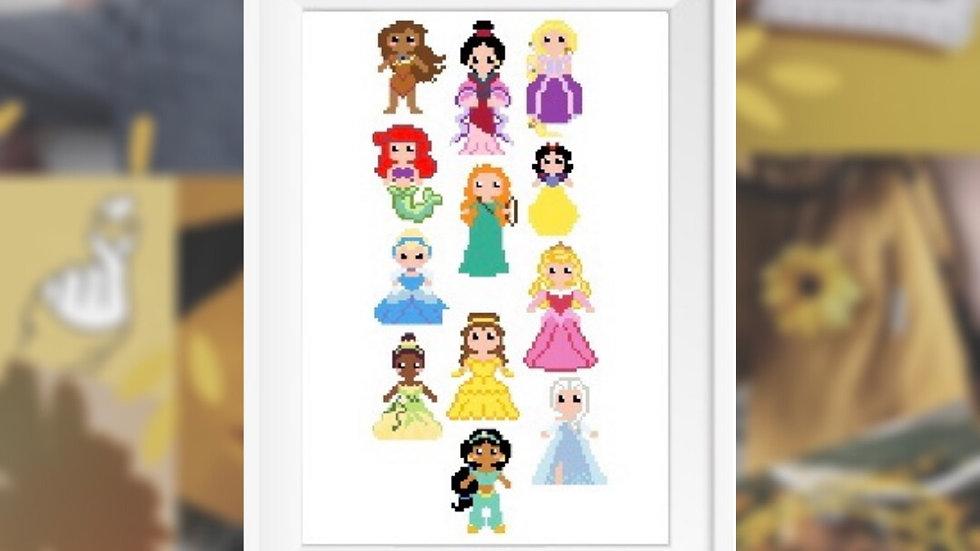 Miniature Princesses   Cross Stitch Pattern