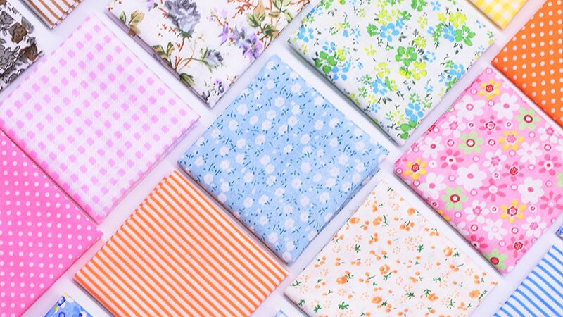Floral Coloured Fabric   100% Cotton