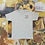 Thumbnail: Dog Hair is my Glitter   Grey Hand Embroidered T-shirt