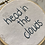 Thumbnail: Head in the Clouds Quote | Embroidery Hoop