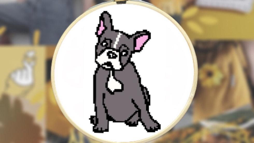 French Bulldog Body   Cross Stitch Pattern