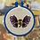 Thumbnail: Semi-Colon Mental Health Awareness Butterfly | Cross Stitch Hoop