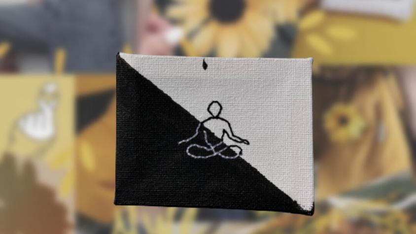Yoga Meditation | Hand Embroidered Canvas