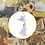 Thumbnail: Blue and Purple Watercolour Princess   Cross Stitch Pattern