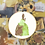 Thumbnail: Green and Brown Watercolour Princess | Cross Stitch Pattern