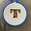 Thumbnail: Camouflage Letter | Cross Stitch Hoop