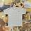 Thumbnail: Middle Finger   Grey Cross Stitch T-shirt