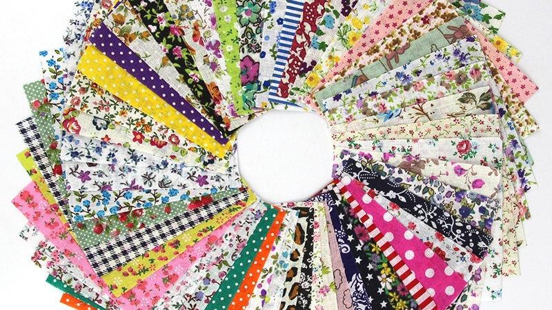 Miniature Fabric Bundle   Set of 50