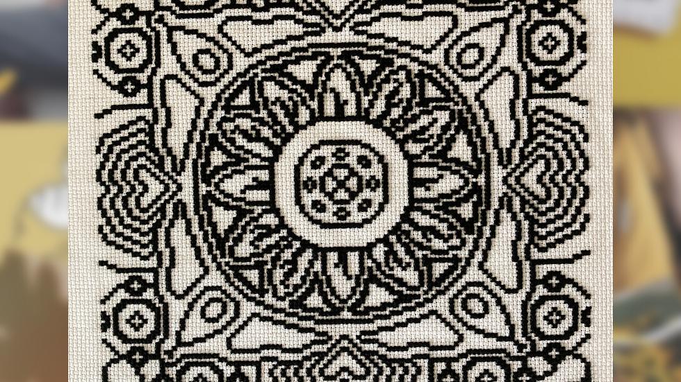 Mandal Colouring   Cross Stitch Pattern