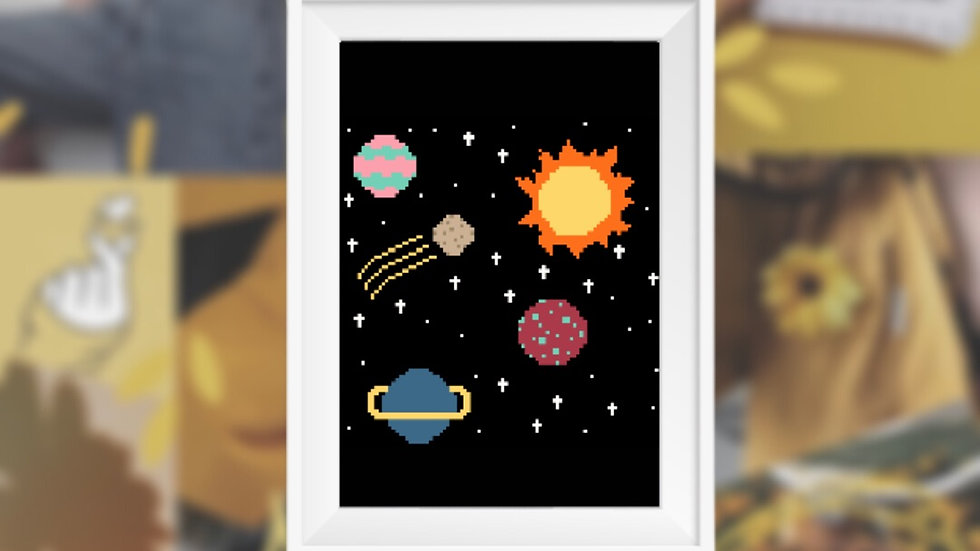 Outer Space   Cross Stitch Pattern