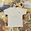 Thumbnail: Middle Finger | White Cross Stitch T-shirt