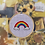 Thumbnail: Rainbow in Clouds | Cross Stitch Hoop