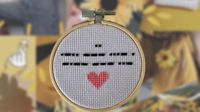 Morse Code | Cross Stitch Hoop