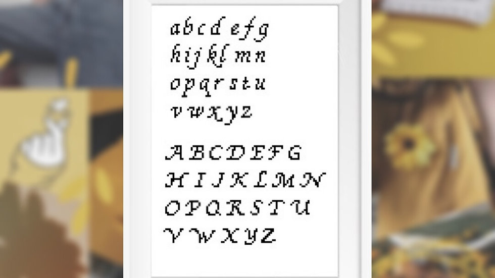 Cursive Font | Cross Stitch Pattern