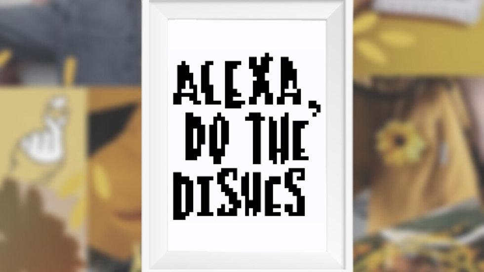 Alexa, Do the Dishes | Cross Stitch Pattern