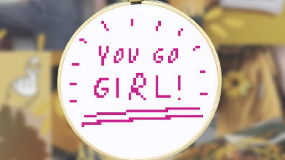You Go Girl   Free Cross Stitch Pattern