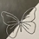 Thumbnail: Black and White Butterfly   Embroidered Canvas