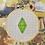 Thumbnail: Plumbob Green   Cross Stitch Hoop