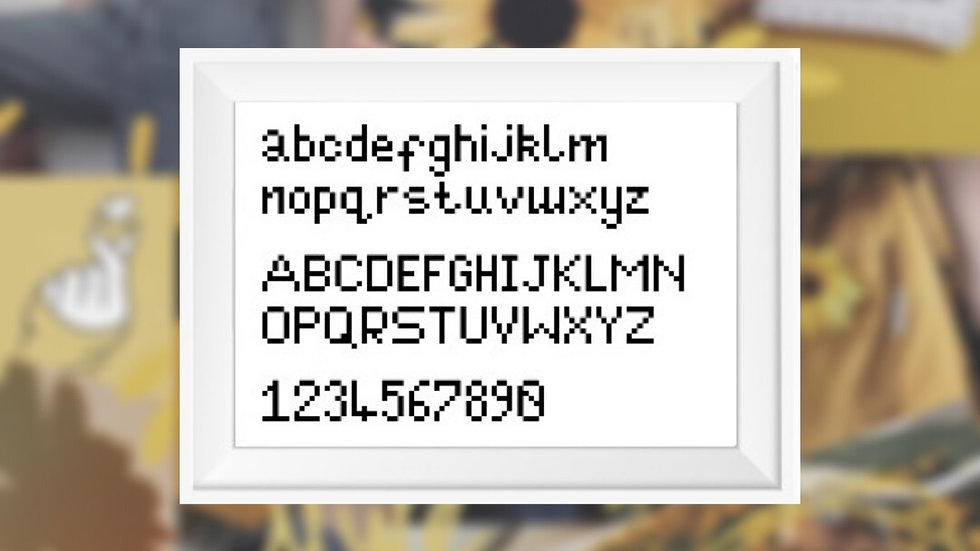 Simple Font | Cross Stitch Pattern