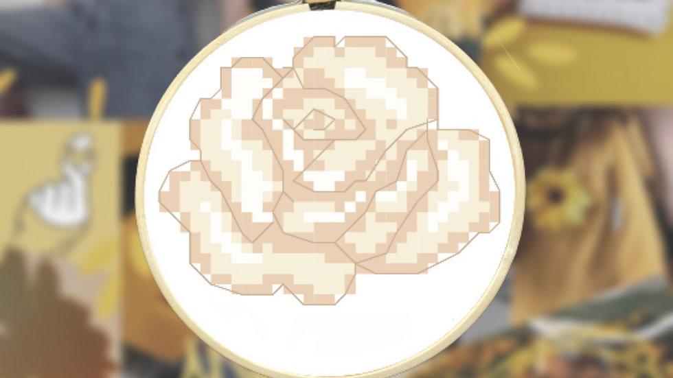 White Rose | Cross Stitch Pattern
