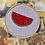 Thumbnail: Watermelon Slice   Cross Stitch Hoop