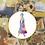 Thumbnail: Purple and Orange Watercolour Princess   Cross Stitch Pattern
