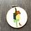 Thumbnail: Green and Yellow Watercolour Prince  | Cross Stitch Pattern