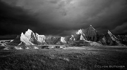 South dakota badlands Clyde Butcher