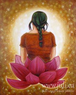 Meditation au lotus16x20