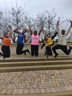 dance team jumping
